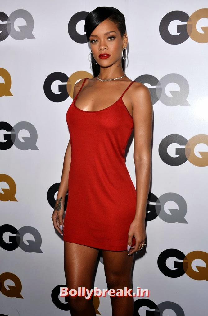 Rihanna, Who Looks the Hottest in Red Party Dress