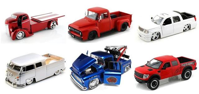 mainan mobilan miniatur pickup diecast mobil bak terbuka pajangan