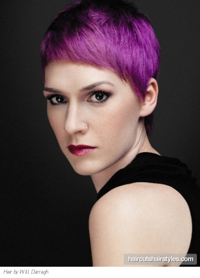 short haircut pictures peinados a la moda pelo corto colorido con flequillo 1295 | short purple pixie haircut1295