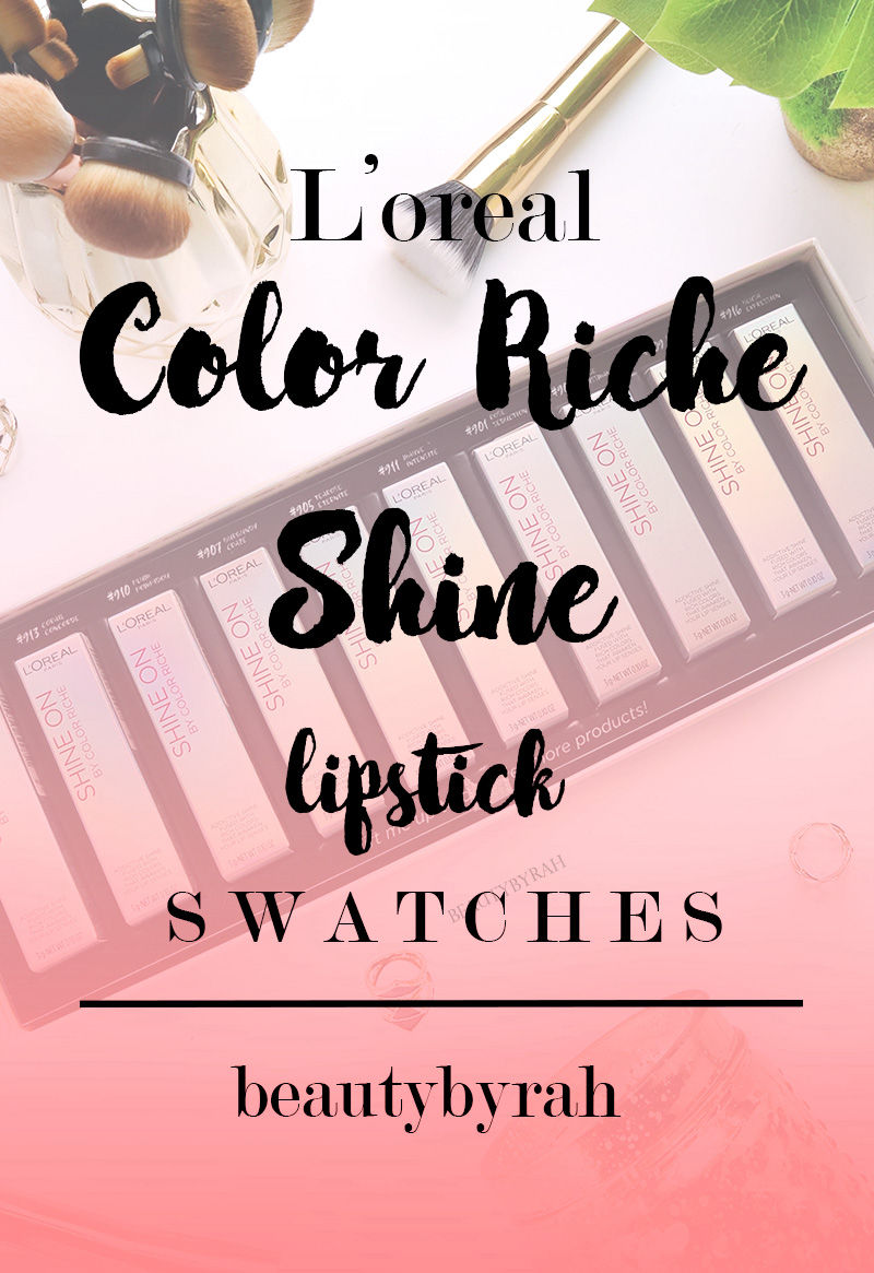 L'Oreal Color Riche Shine Lipsticks Review and Swatches Singapore