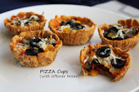LEFTOVER BREAD PIZZA CUPS