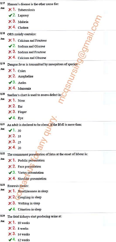 ESIC nursing exam paper Delhi