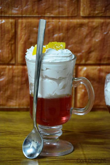 קצפת וג'לי בכוס מושלם perfect jell-o and cream