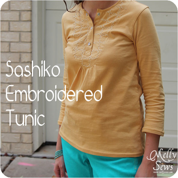 Sashiko Tunic with Free Pattern from Melly Sews