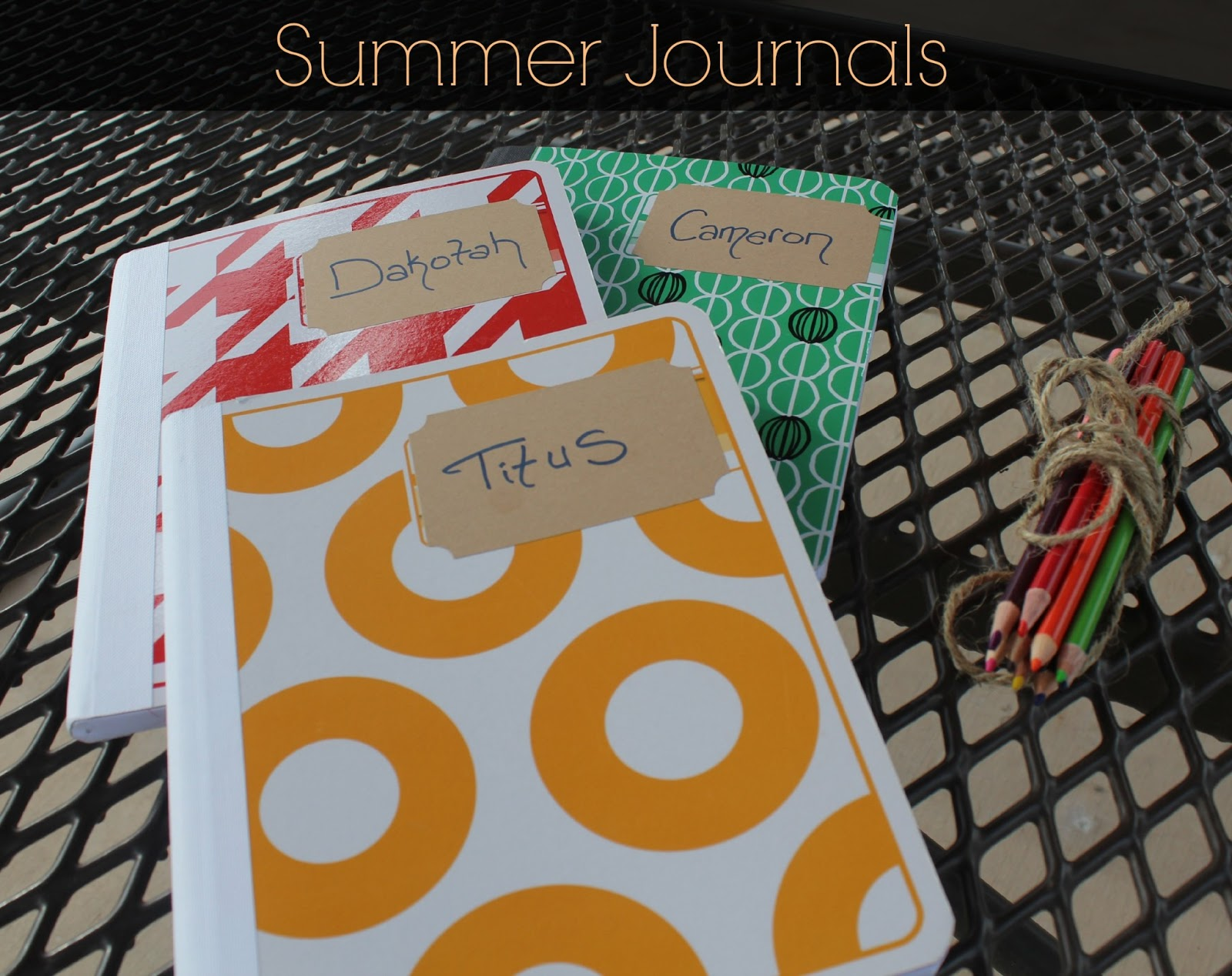 Kid Summer Journals