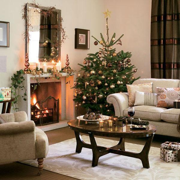 Hogares frescos ideas de decoraci n de navidad el - Decoracion de interiores navidad ...