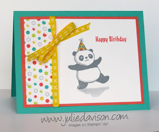 Stampin' Up! Sale-a-Bration 2018 Party Pandas ~ www.juliedavison.com
