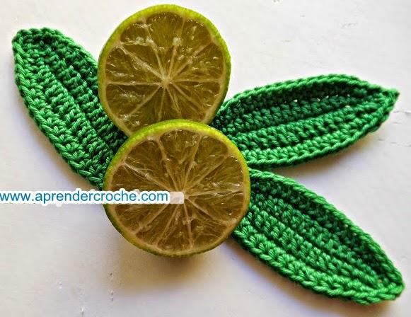 edinir croche ensina Folhas em croche para limão americano com edinir croche no blo aprender croche