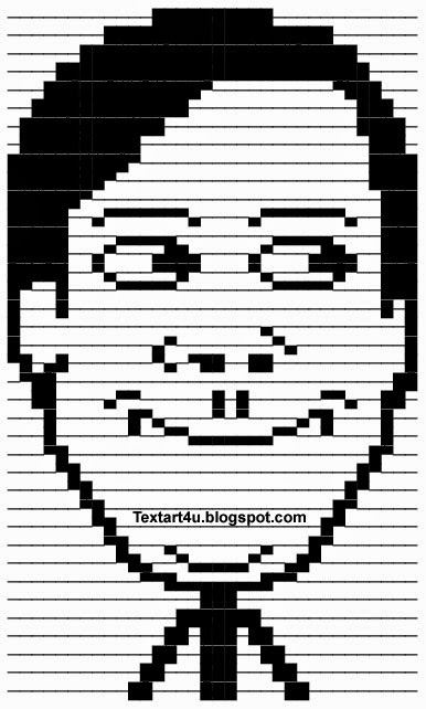 Creepy ascii face