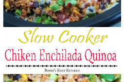 SLOW COOKER CHICKEN ENCHILADA QUINOA