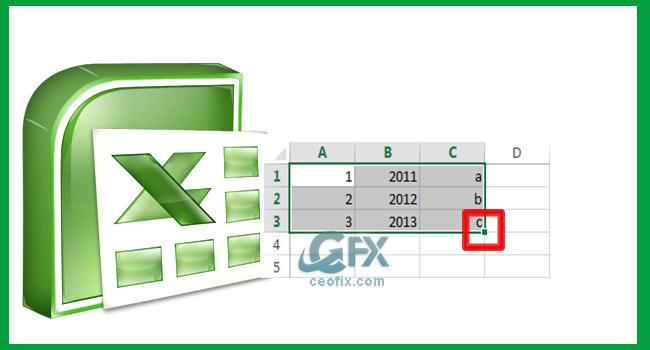Excel'de Doldurma Tutamacını Gösterme Ve Gizleme-www.ceofix.com