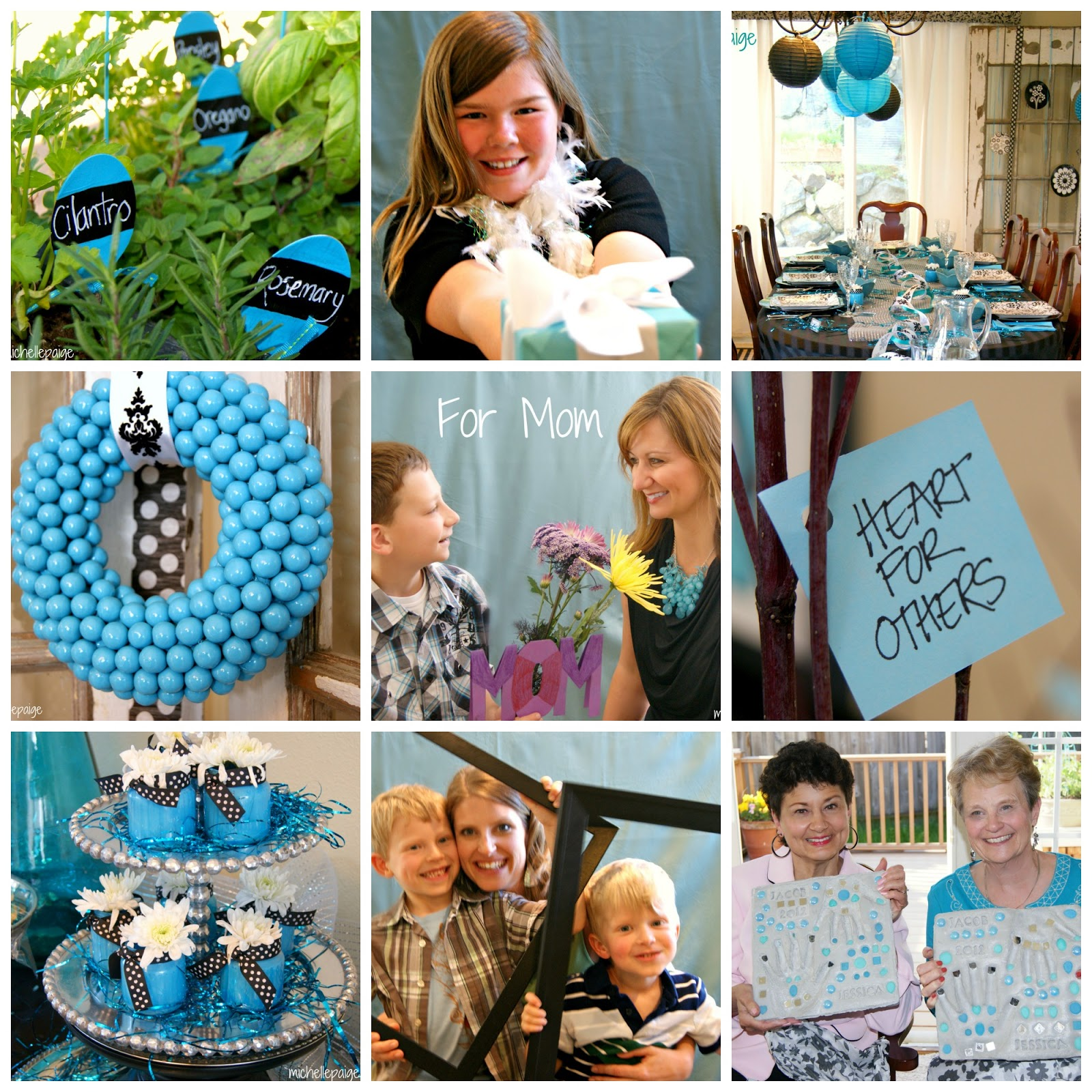 Turquoise Mother's Day Ideas @michellepaigeblogs.com