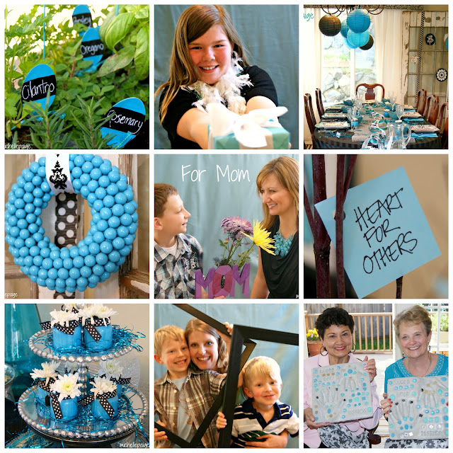 Turquoise Mother's Day Party @michellepaigeblogs.com