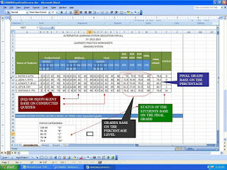 SIMPLE GRADING SYSTEM USING MS-EXCEL 2007
