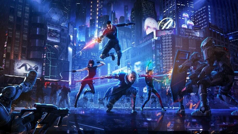 Cyberpunk, Battle, Sci-Fi, City, 4K, #4.613