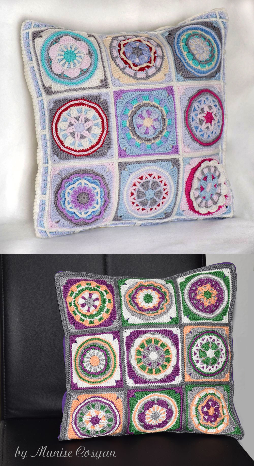 Circles of the Sun pillows by Munise Cosgan