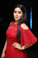 Poorna in Maroon Dress at Rakshasi movie Press meet Cute Pics ~  Exclusive 46.JPG