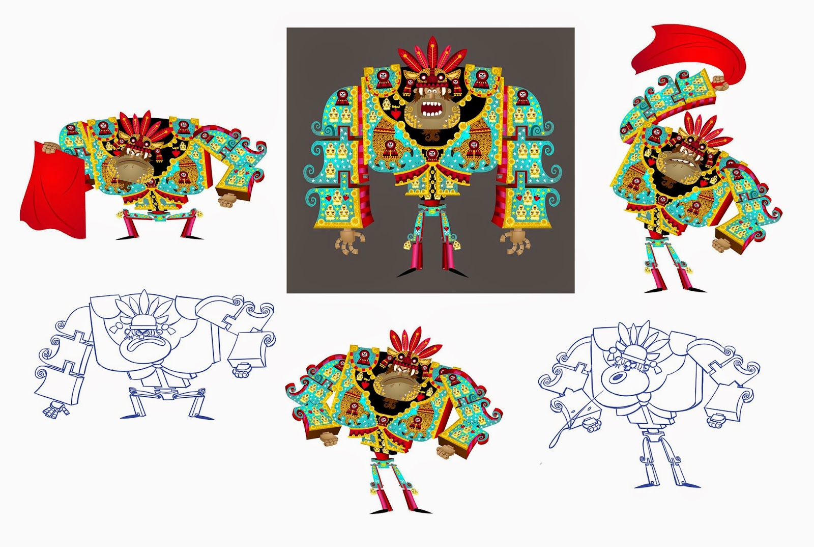 Character Layout The Book Of Life 2 D Sequences