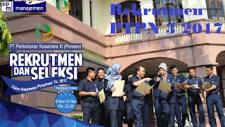 Lowongan kerja PT. Perkebunan Nusantara 3 terbaru