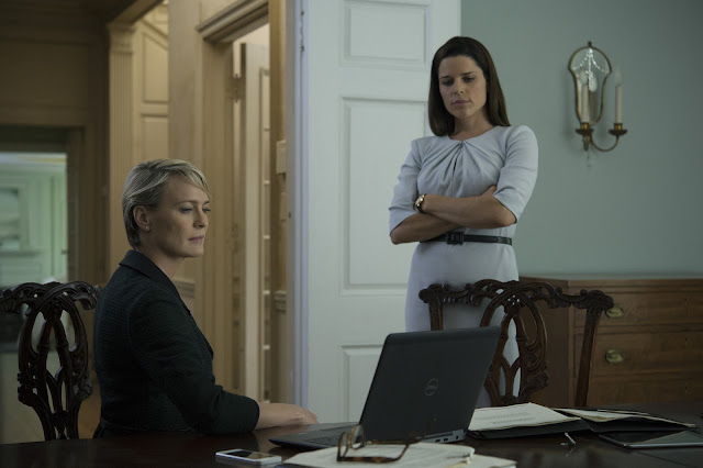 "Robin Wright and Neve Campbell in ""House of Cards"""