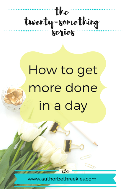 Some weeks, I'll do nothing. Some days, I'll magically do two weeks' worth of work in an afternoon. In this post, I talk about how to get more done in a day.