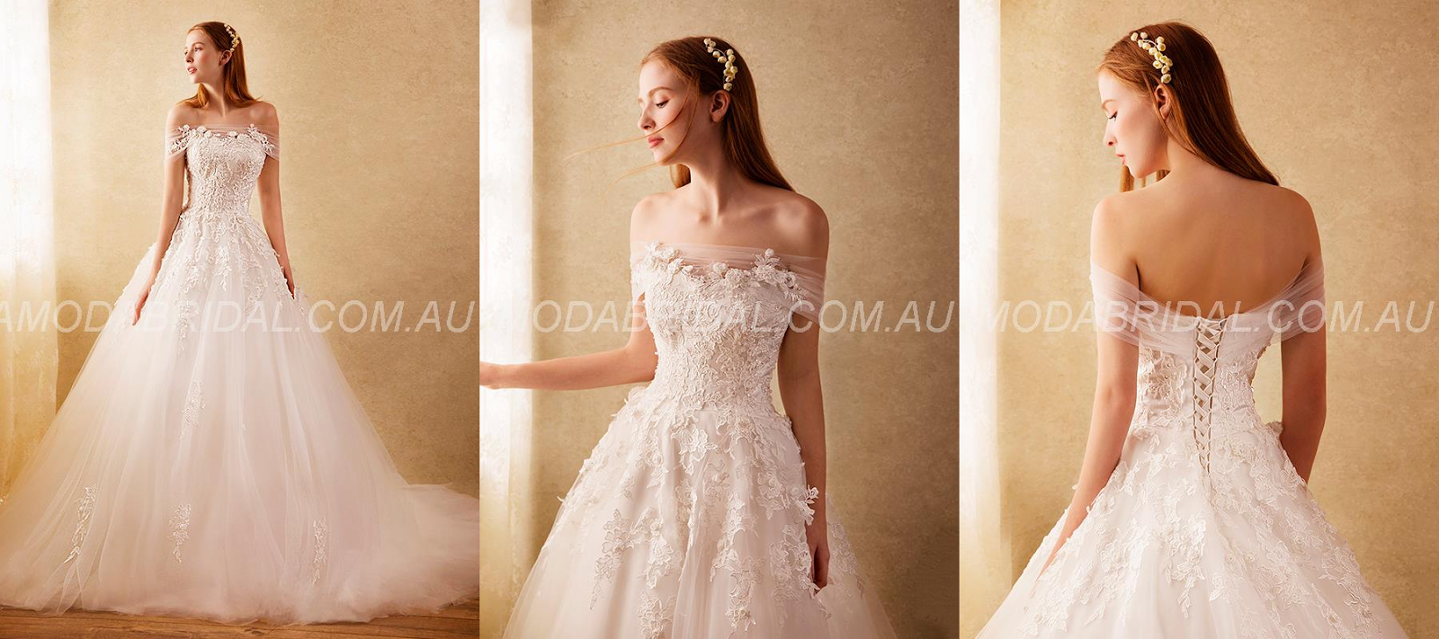 Court Lace-up Appliques Floor-Length Glamorous & Dramatic Beading Church Elegant & Luxurious Wedding Dress