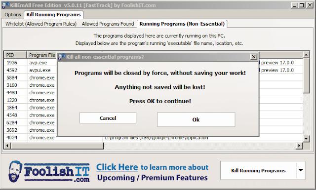 برنامج KillEmAll لحل مشكلة تشنج الكمبيوتر