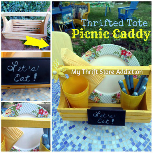 Picnic caddy for outdoor dining