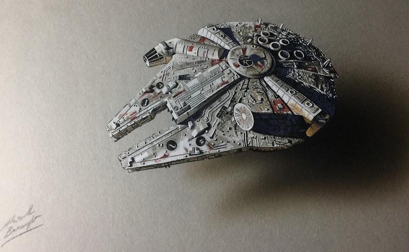 MILLENNIUM FALCON | Star Wars Drawing #6