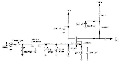 Best 45Mhz RF Amplifier With Crystal Filter Circuit Diagram