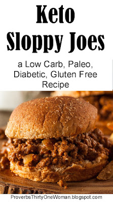 Low carb, Paleo, Diabetic, Gluten Free Sloppy Joes