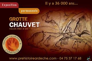 Exposición de la Gruta de Chauvert.