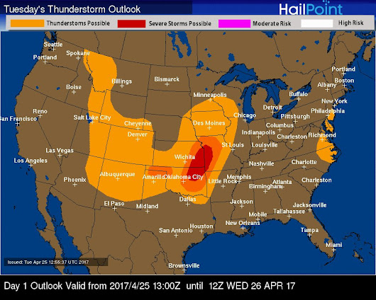 TODAY'S THUNDERSTORM OUTLOOK