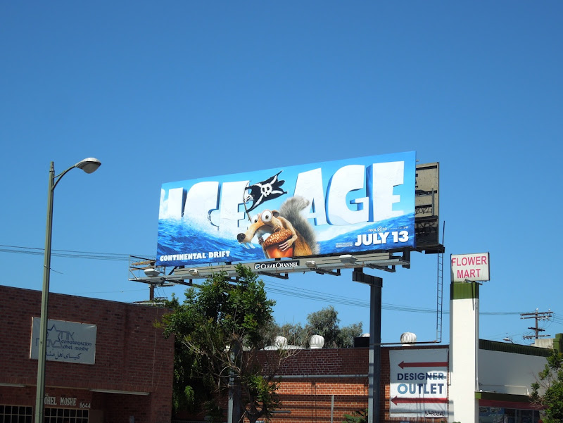 Ice Age 4 movie billboard