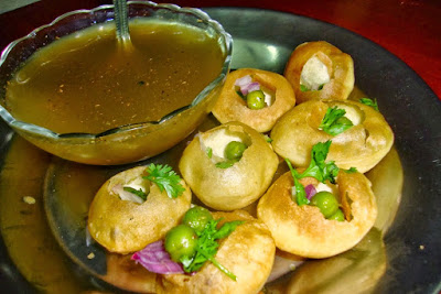 Pani Puri On the Streets Of Mumbai