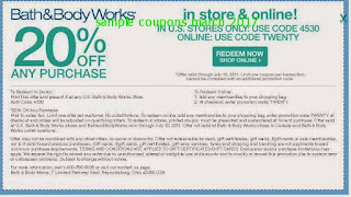 Bath And Body Works coupons march 2017