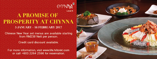 CHYNNA Hilton Hotel KL Yee Sang review; CHYNNA Hilton Hotel KL chinese cuisine review; CHYNNA Hilton Hotel KL chinese new year menu; CHYNNA Hilton Hotel KL chinese new year menu 2017; CHYNNA Hilton Hotel KL yee sang offers 2017; CHYNNA Hilton Hotel KL yee sang price 2017; CHYNNA Hilton Hotel KL chinese new year menu review;