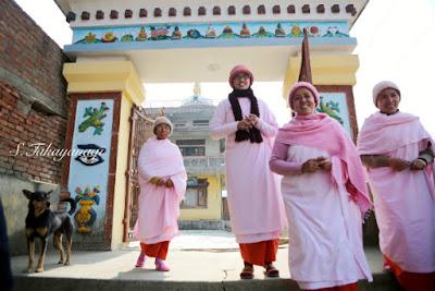 Nepal Bungamatの尼僧さんたち。