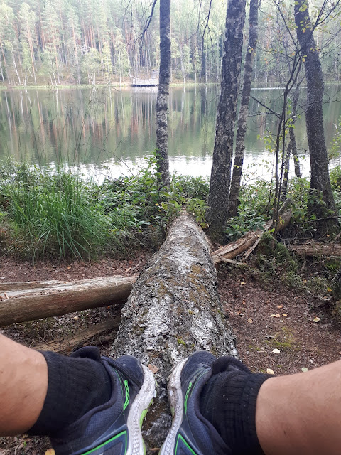 Hiking around Devil's lake/Velnezers lake in Latvia