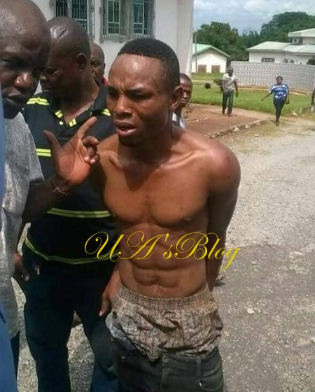 Imo Community In Jubilation As Notorious Armed Robbery Kingpin 'Police' Is Arrested (Photo)
