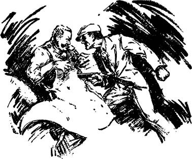 Illustration for The fatal feast - January, 1936 issue of Blue Book magazine