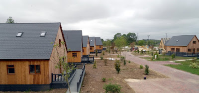 Picture: Some of the existing holiday lodges at the Brigg Marina site in 2018 - see Nigel Fisher's Brigg Blog