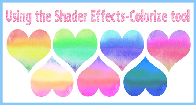 The Silhouette Shader Effect Colorize tool to change pattern colours