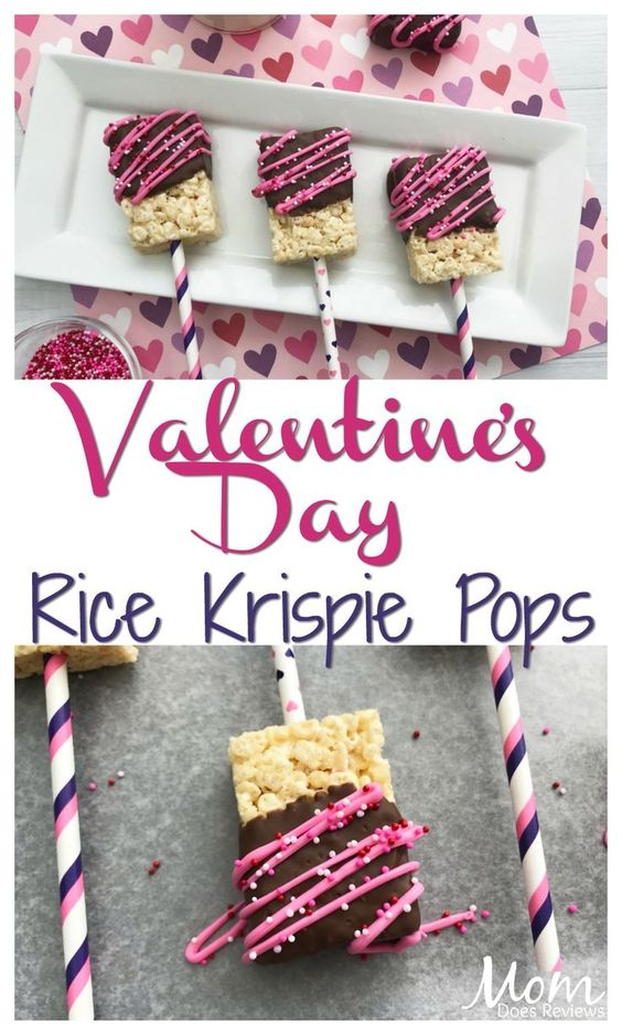 Super Easy Valentine's Rice Krispie Pops #Sweet2019