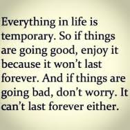 Famous Quotes About Life Changes: everything in life is temporary