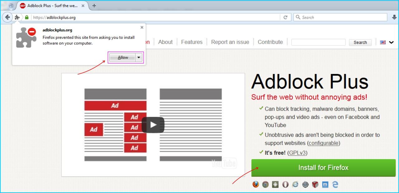 Adblock Plus - Install Addons Adblock Plus Sesuai Dengan Browser Yang Digunakan