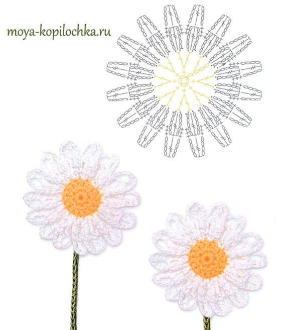 48 Magníficos patrones de flores a crochet