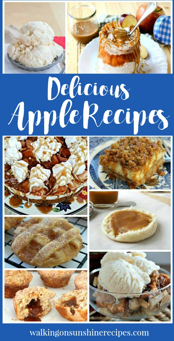 A great collection of Fall Apple Recipes featured this week with our Delicious Dishes Recipe Party #35 from Walking on Sunshine Recipes.
