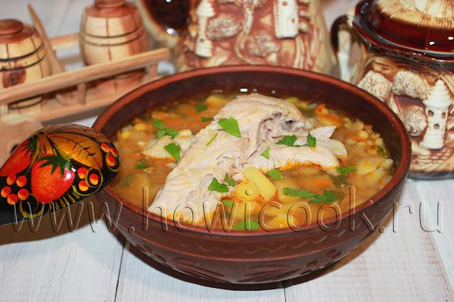 рецепт горохового супа на свиных ребрышках