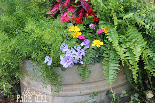 upcycled garden containers